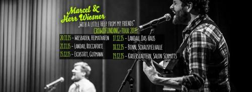 KONZERT-Empfehlung: Marcel & Herr Wiesner starten Crowdfunding-Tour